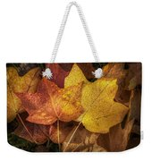 Dew On Autumn Leaves Weekender Tote Bag