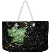 Dew On Leaf Weekender Tote Bag