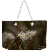 Dew On Ornamental Grass No. 2 Weekender Tote Bag