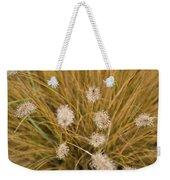 Dew On Ornamental Grass No. 3 Weekender Tote Bag