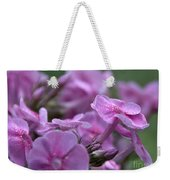 Dew On Phlox Weekender Tote Bag