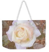 Dewy Dawn Peace Rose Weekender Tote Bag