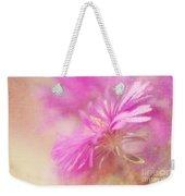 Dewy Pink Asters Weekender Tote Bag by Lois Bryan