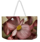 Dewy Pink Painted Begonia Weekender Tote Bag