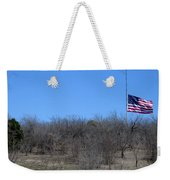 Dfw National Cemetery Flag On The Hill Weekender Tote Bag