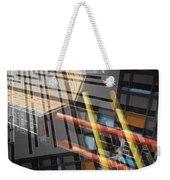 Diagonal Mondrian Weekender Tote Bag