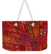 Diagonal Tiles In Reds Weekender Tote Bag