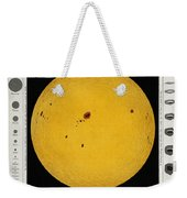 Diagram Of The Sun With Sunspots C Weekender Tote Bag