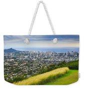 Diamond Head And The City Of Honolulu Weekender Tote Bag