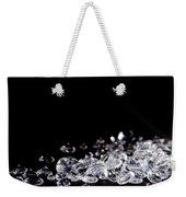Diamonds On Black Background Weekender Tote Bag