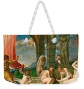 Diana And Actaeon Weekender Tote Bag