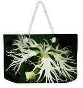 Dianthus Superbus - White Weekender Tote Bag