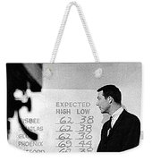 Dick Mayers Weather Cast Kvoa Tv Tucson Arizona Circa 1964 Weekender Tote Bag
