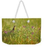 Dickcissel And Flowers Weekender Tote Bag
