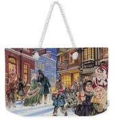 Dickensian Christmas Scene Weekender Tote Bag by Angus McBride