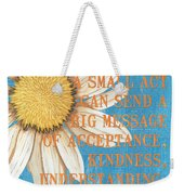Dictionary Florals 4 Weekender Tote Bag
