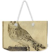 Die Stein Eule Or Church Owl Weekender Tote Bag