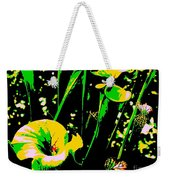 Digital Green Yellow Abstract Weekender Tote Bag