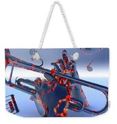Digital Jazz Weekender Tote Bag