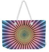 Digital Mandala Flower Weekender Tote Bag