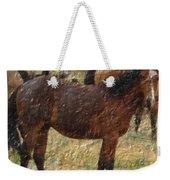 Digital Oil Painting Horses Weekender Tote Bag