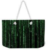 Digital Rain Weekender Tote Bag