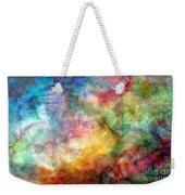 Digital Watercolor Abstract Weekender Tote Bag