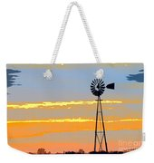 Digital Windmill-horizontal Weekender Tote Bag