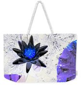 Digitally Altered Water Lily Weekender Tote Bag