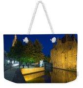 Dijver Canal At Night  Weekender Tote Bag