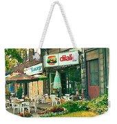 Dilallo Burger Diner Paintings Originalclassic Vintage Burger Joint St Henri St Catherine Cityscene  Weekender Tote Bag