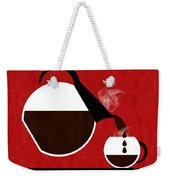 Diner Coffee Pot And Cup Red Pouring Weekender Tote Bag
