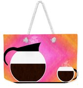 Diner Coffee Pot And Cup Sorbet Weekender Tote Bag