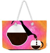 Diner Coffee Pot And Cup Sorbet Pouring Weekender Tote Bag