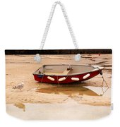 Dinghy At Low Tide In St Ives Cornwall Weekender Tote Bag
