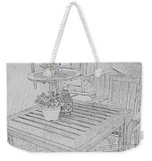 Dining On The Street Weekender Tote Bag