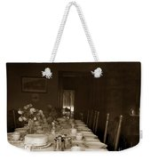 Dining Room Table Circa 1900 Weekender Tote Bag