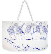 Dinka Wise Virgins -south Sudan Weekender Tote Bag by Gloria Ssali