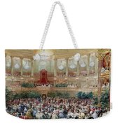 Dinner In The Salle Des Spectacles At Versailles Weekender Tote Bag