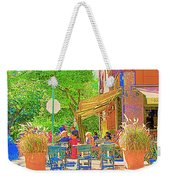 Dinner On The Terrace Le Murphy Boire Et Manger French Bistro Montreal Cafe Street Scene Weekender Tote Bag