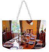 Dinner Table Weekender Tote Bag
