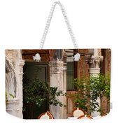 Dinner Tables In Venice Weekender Tote Bag