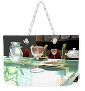 Dinning Table Weekender Tote Bag