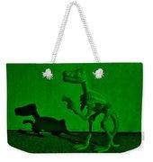 Dino Dark Green Weekender Tote Bag