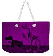 Dino Dark Purple... Barney Weekender Tote Bag