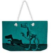 Dino Dark Turquoise Weekender Tote Bag