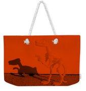 Dino Orange Weekender Tote Bag