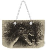Dino's At The Zoo Come Here Cameraman In Heirloom Finish Weekender Tote Bag