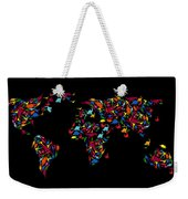 Dinosaurs Map Of The World   Weekender Tote Bag by Mark Ashkenazi