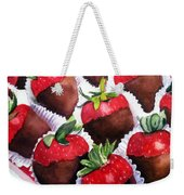 Dipped Strawberries Weekender Tote Bag